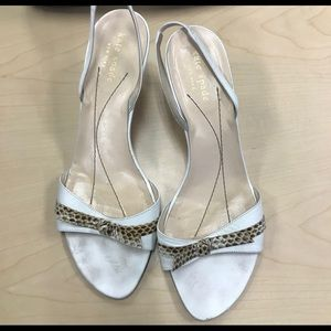 Preowned white Kate Spade Leather Sandals